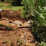 The Water Project: Shisere Community, Francis Atema Spring -  Backfilling Progress