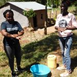 The Water Project: Shihingo Community, Mangweli Spring -  Handwashing Demonstration