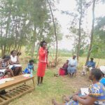The Water Project: Munenga Community, Burudi Spring -  Dental Hygiene Activity