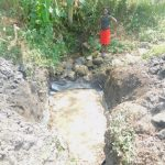 The Water Project: Munenga Community, Burudi Spring -  Field Officer Checks Progress