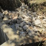 The Water Project: Mukhuyu Community, Kwawanzala Spring -  Spring Backfilling