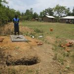 The Water Project: Mukhuyu Community, Kwawanzala Spring -  New Sanitation Platform