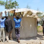 The Water Project: Nambilima Secondary School -  Tank Dome Construction