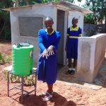 The Water Project: Essongolo Primary School -  Handwashing Station