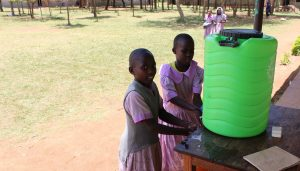 The Water Project:  Washing Hands At The New Station