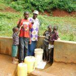 The Water Project: Sichinji Community, Makhatse Spring -  Flowing Water