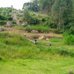 The Water Project: Musasa Primary School -  Kenya Fetching Water
