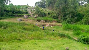 The Water Project:  Kenya Fetching Water