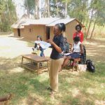 The Water Project: Munenga Community, Burudi Spring -  Trainer Betty In Action