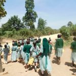 The Water Project: Mukangu Primary School -  Going To Fetch Water