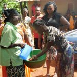The Water Project: Mutao Community, Shimenga Spring -  Handwashing Training