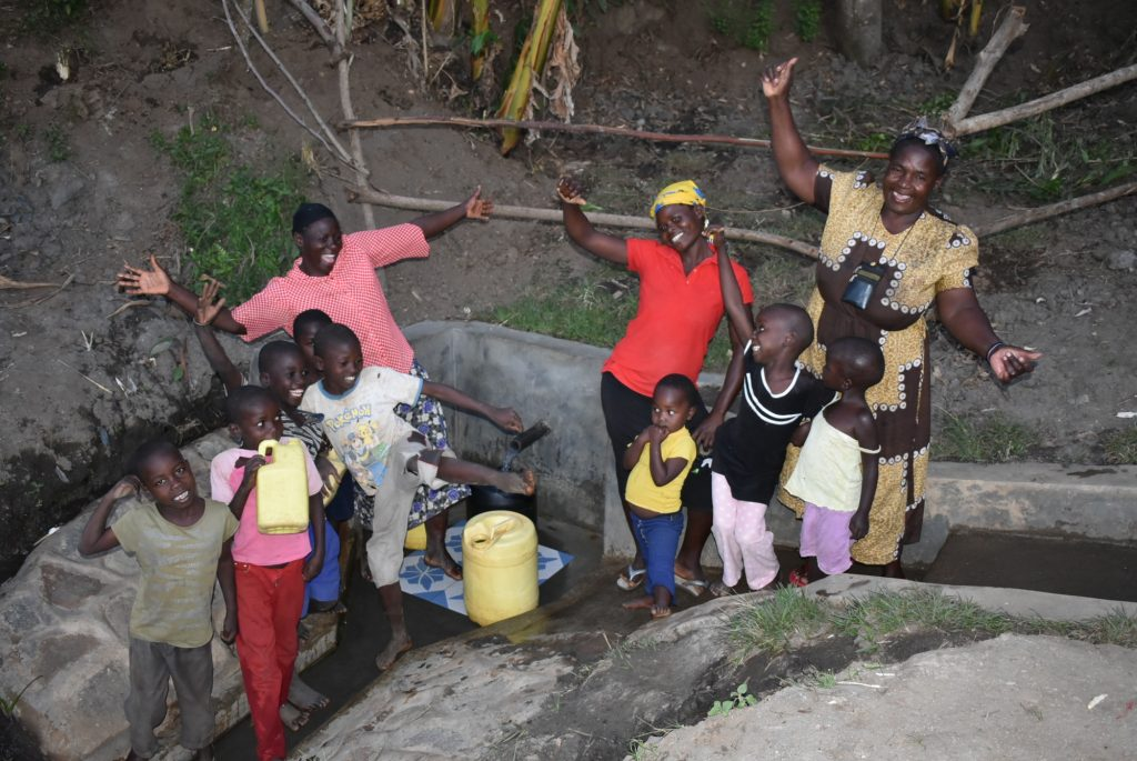 The Water Project : 7-kenya19176-celebrating-the-new-spring-3