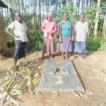 The Water Project: Munenga Community, Burudi Spring -  New Latrine Owners