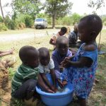 The Water Project: Mukhuyu Community, Kwawanzala Spring -  Children Demonstrating How They Wash Hands