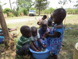 The Water Project:  Children Demonstrating How They Wash Hands