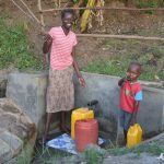 The Water Project: Munenga Community, Burudi Spring -  Mother And Son