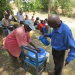 The Water Project: Mukhuyu Community, Kwawanzala Spring -  Handwashing Training
