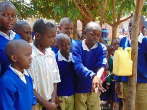The Water Project:  Joseph Onani Demonstrating The Ten Steps Of Handwashing