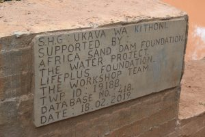 The Water Project:  Asdf_ukava Wa Kithoni Shg_sd Plaques