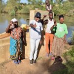 The Water Project: Katung'uli Community B -  Anna Wabamba Field Officer Lilian Kendi Solomon Kyalo Elizabeth Nduku And Timothy Musau