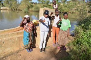 The Water Project:  Anna Wabamba Field Officer Lilian Kendi Solomon Kyalo Elizabeth Nduku And Timothy Musau