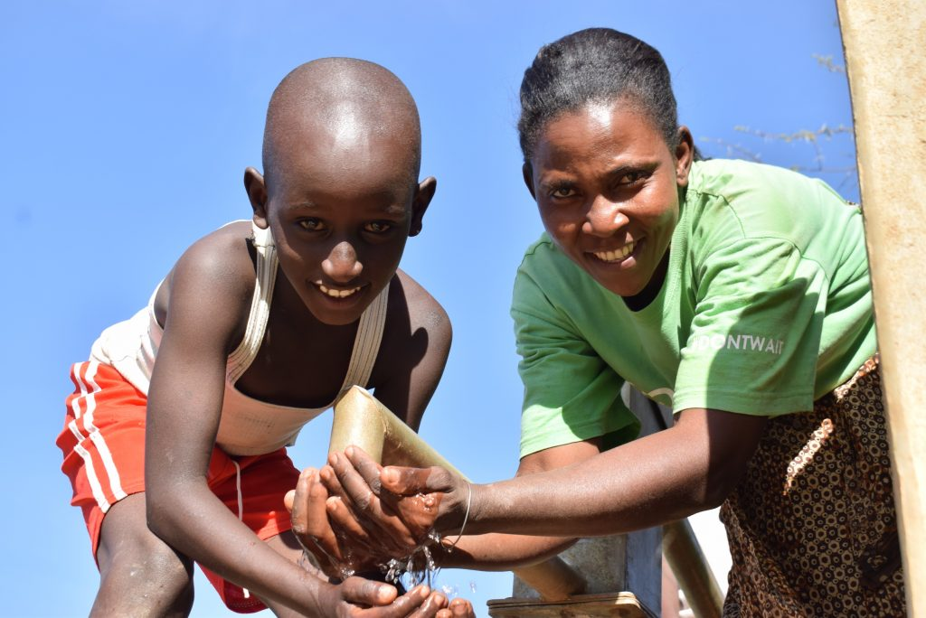 The Water Project : kenya18174-smiles-for-reliable-water