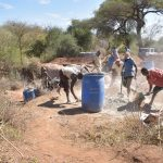 The Water Project: Kithoni Community -  Dam Construction Phase Three
