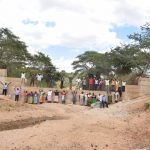The Water Project: Muluti Community -  Standing On Completed Dam