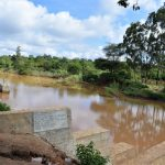 The Water Project: Muluti Community -  Water Builds Up Behind Dam