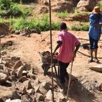 The Water Project: Ivumbu Community -  Working On Dam
