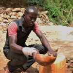 The Water Project: Kaketi Community -  Fetching Water