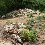The Water Project: Kaketi Community -  Rocks Gathered For Construction Of The Project