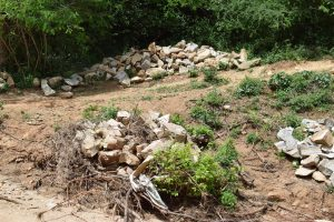 The Water Project:  Rocks Gathered For Construction Of The Project