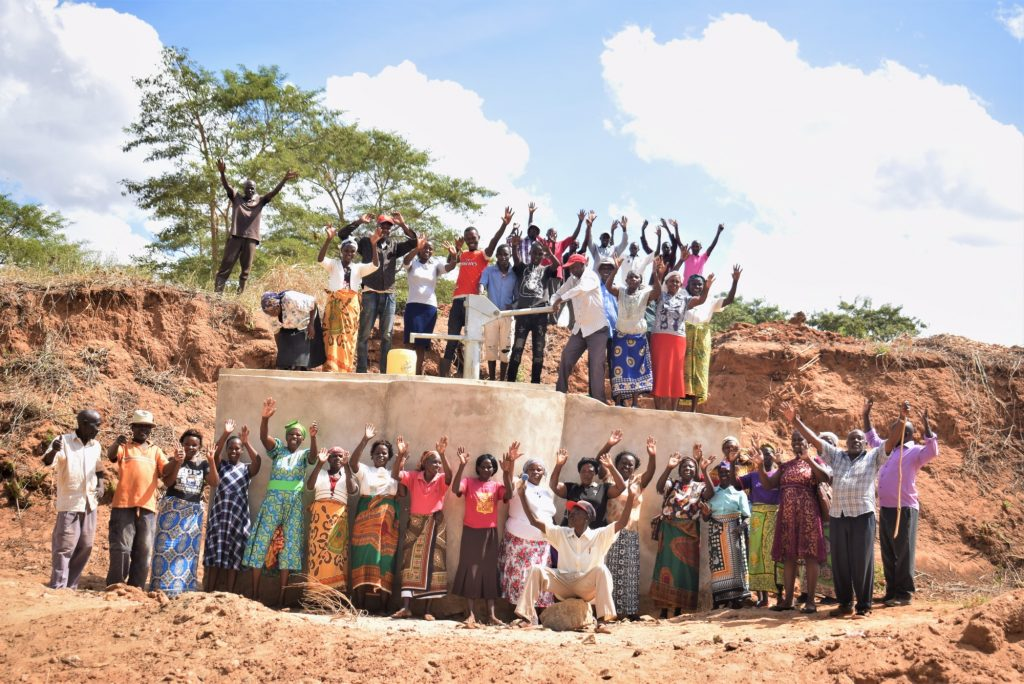 The Water Project : kenya19214-celebrating-the-completed-well