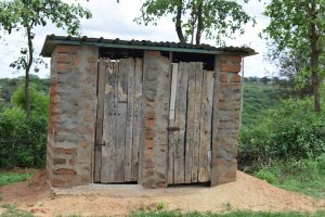 The Water Project:  Latrine And Bathing Shelter