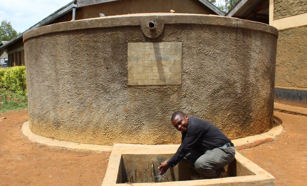 The Water Project : 1-kenya18005-deputy-headteacher-bonventure-akhwesa-3