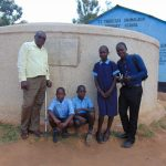 The Water Project: Shamalago Primary School -  Posing With The Tank