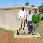 The Water Project: Bushili Secondary School -  Field Officer Jonathan Deputy Principal Titus Wanyama And Student Julius Oyemba