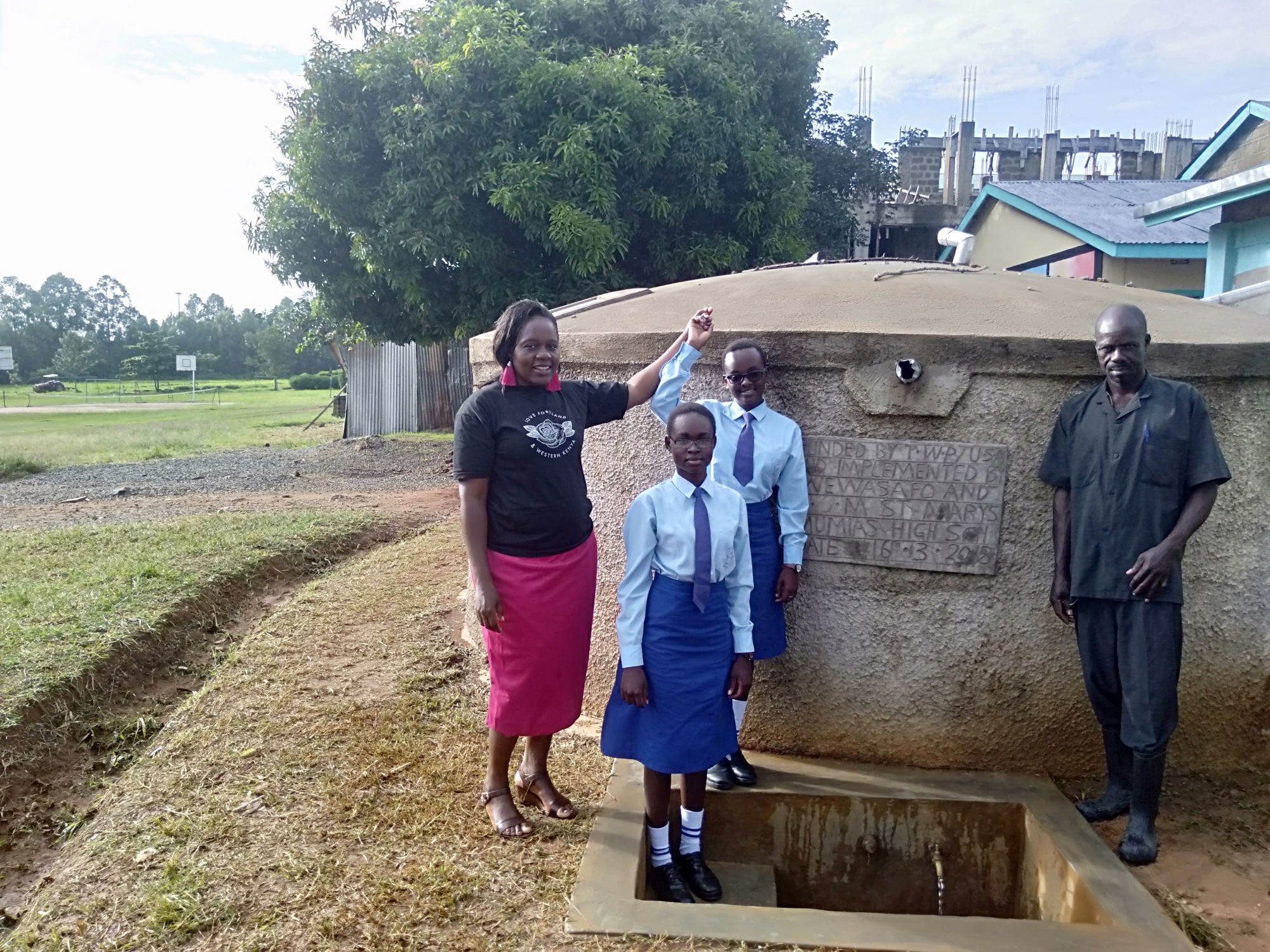 The Water Project : 1-kenya18289-students-and-staff