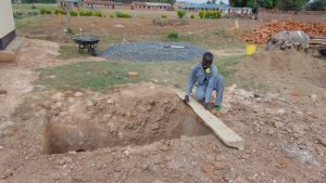 The Water Project:  Pit For The New Latrines