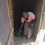 The Water Project: Musango Community, Emufutu Spring -  Learning How To Care For The Latrine