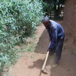 The Water Project: Musango Community, Emufutu Spring -  Clearing The Ground For Sanitation Platform Construction