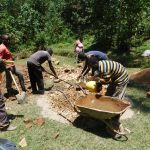 The Water Project: Wajumba Community, Wajumba Spring -  Mixing Cement