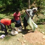 The Water Project: Wajumba Community, Wajumba Spring -  Delivering Sand