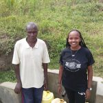 The Water Project: Futsi Fuvili Community, Simeon Shimaka Spring -  Simeon Otundu And Georgina