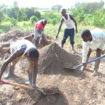 The Water Project: Musango Community, Emufutu Spring -  Men Helping At The Site