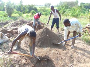The Water Project:  Men Helping At The Site