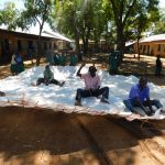 The Water Project: Ebutenje Primary School -  Working On The Tank Dome