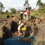 The Water Project: Musango Community, Emufutu Spring -  Starting The Foundation