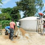 The Water Project: Ebutenje Primary School -  Tank Construction